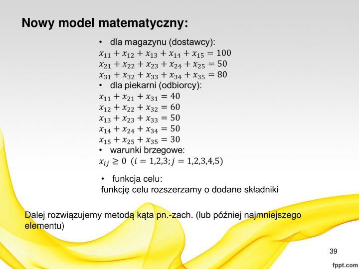 Nowy model matematyczny: