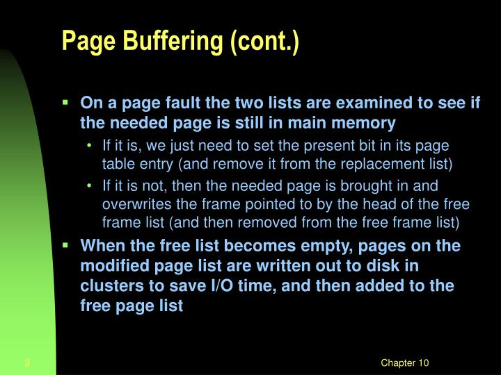 Page buffering cont