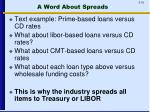 a word about spreads
