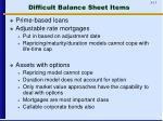 difficult balance sheet items1
