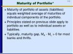 maturity of portfolio