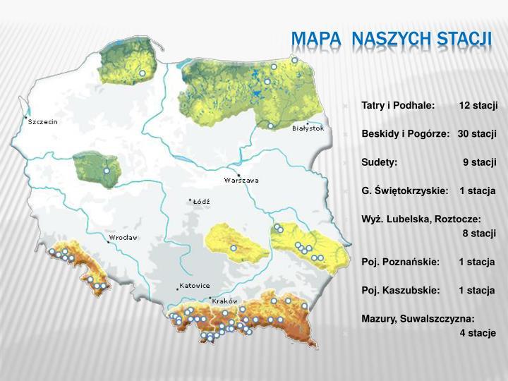 Mapa naszych stacji