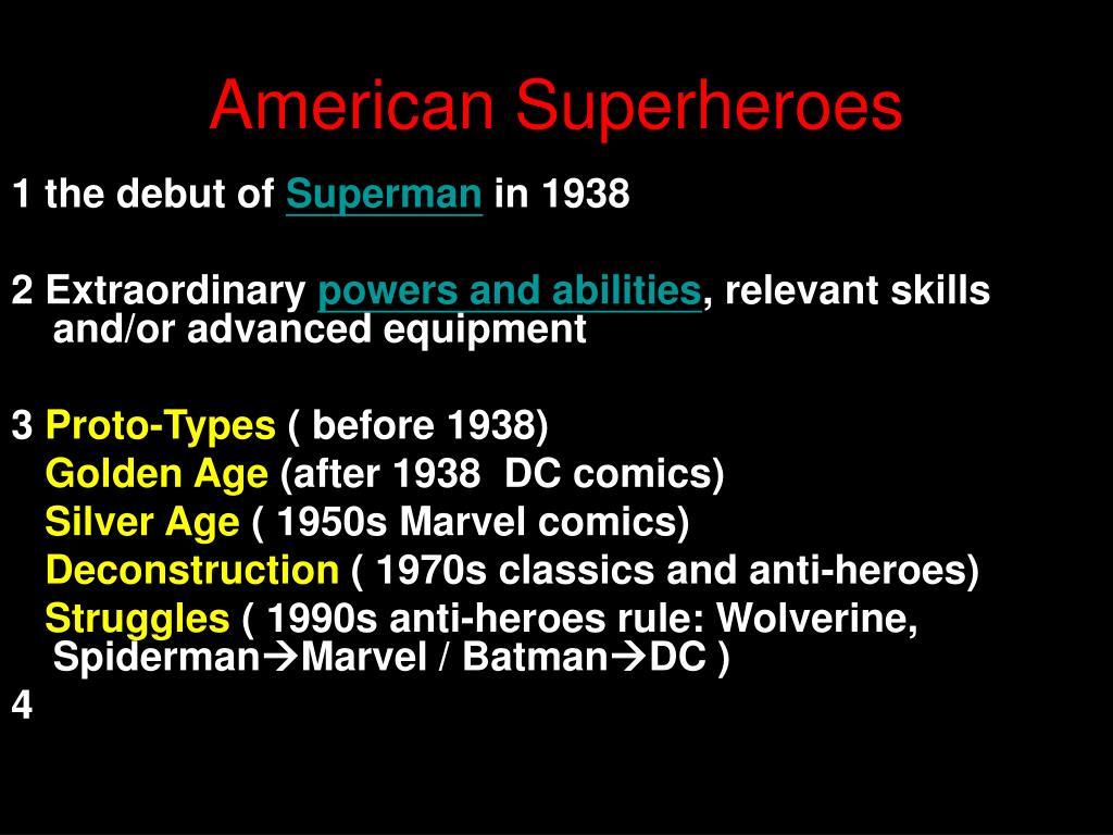 ppt american superheroes powerpoint presentation id 3401015