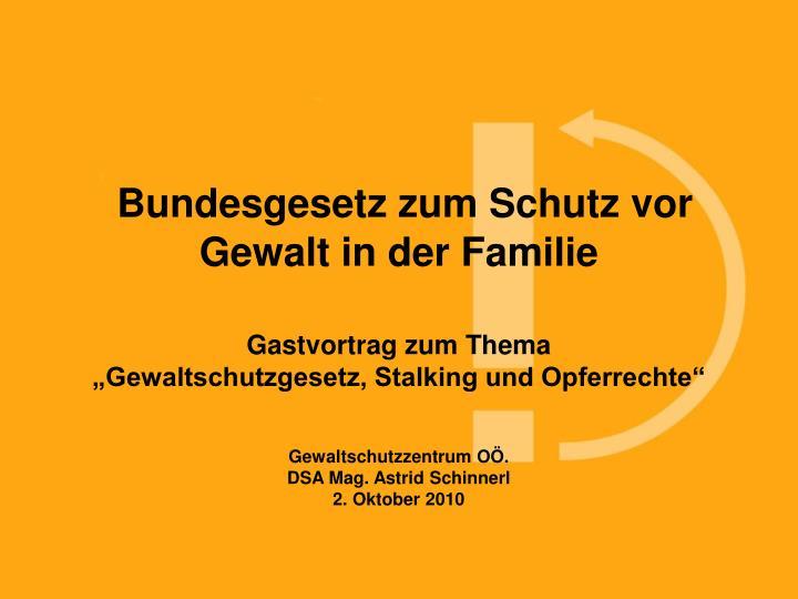 Bundesgesetz zum Schutz vor Gewalt in der Familie