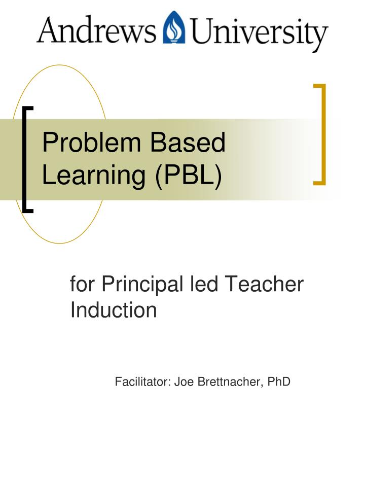 problem based learning pbl n.