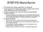 btbp pdi blend barrier