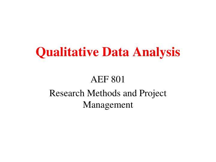 qualitative data analysis n.