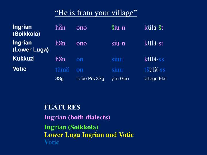 """""""He is from your village"""""""