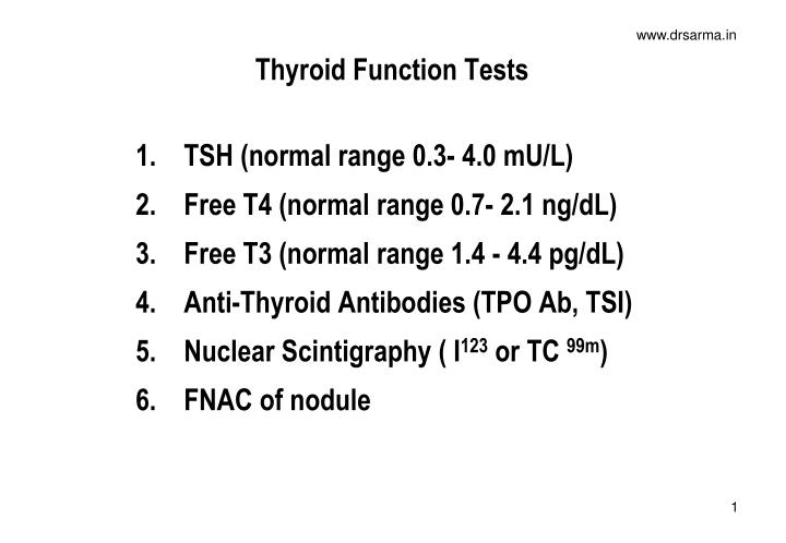 Ppt Thyroid Function Tests Powerpoint Presentation Free