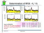 determination of bf b c x