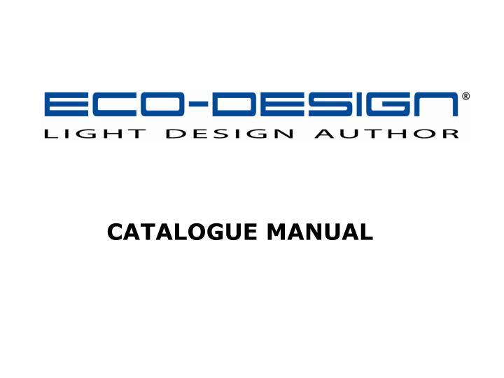 catalogue manual n.