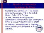 bouchet assistantships sustaining the effort