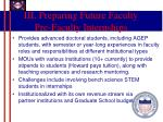 iii preparing future faculty pre faculty internships