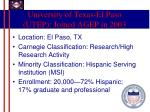 university of texas el paso utep joined agep in 2003