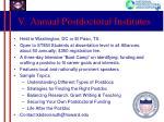 v annual postdoctoral institutes
