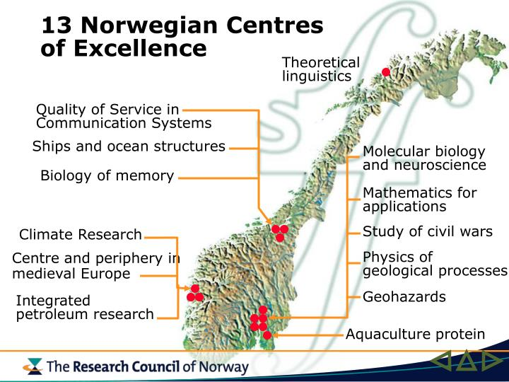 13 Norwegian Centres of Excellence