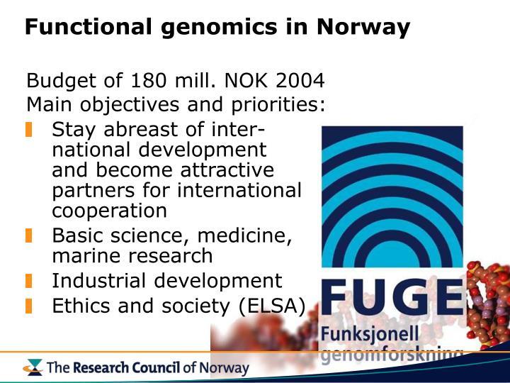 Functional genomics in Norway