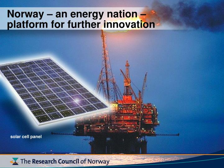 Norway – an energy nation –