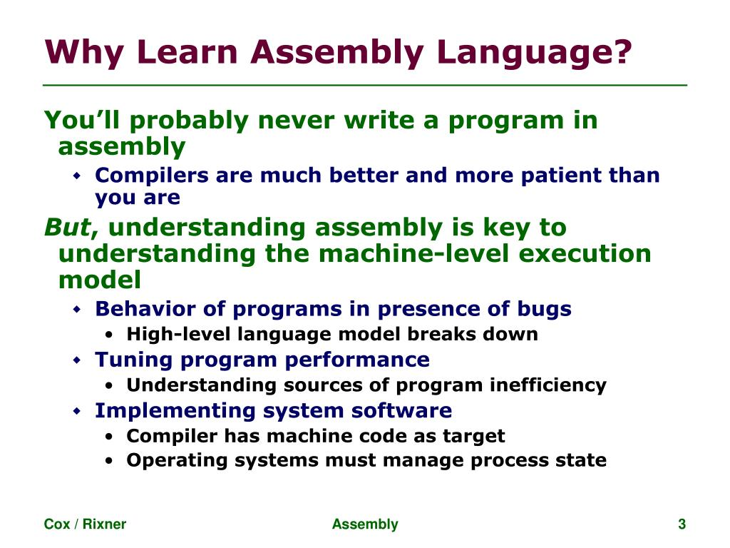 PPT - Assembly Language PowerPoint Presentation - ID:3401499