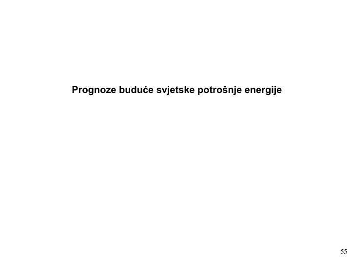 Prognoze buduće svjetske potrošnje energije