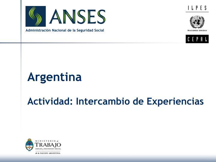 argentina actividad intercambio de experiencias n.