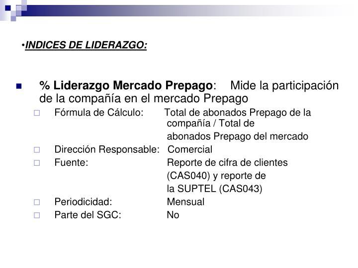INDICES DE LIDERAZGO: