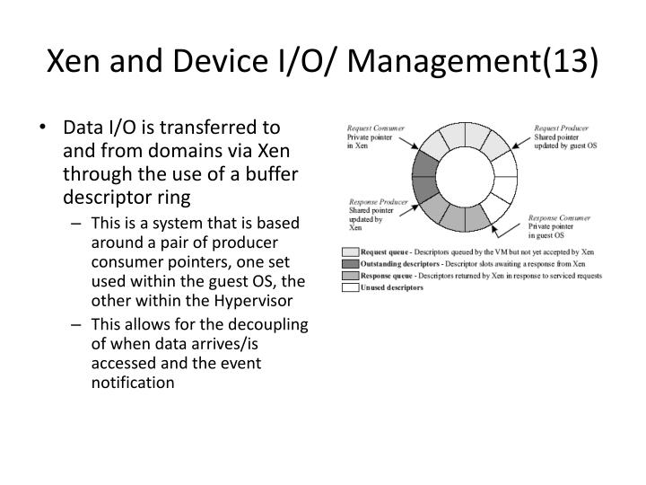 Xen and Device I/O/ Management(13)