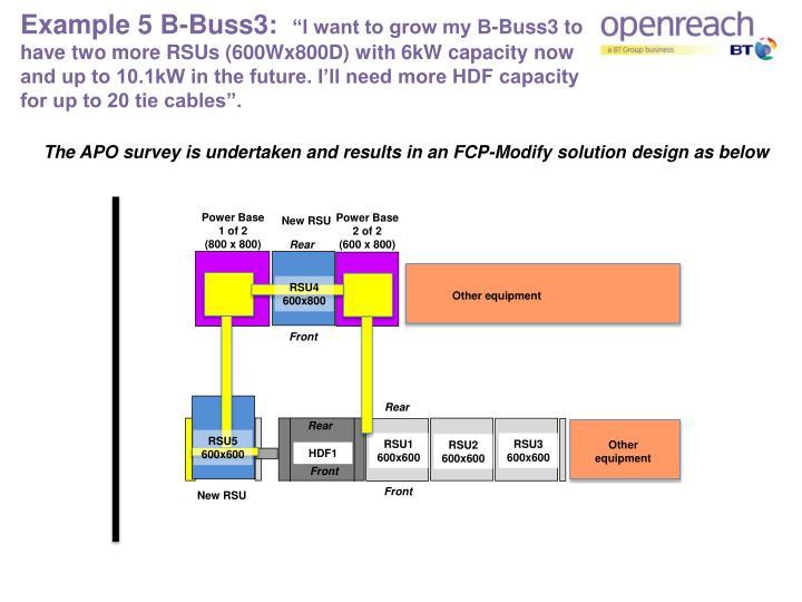 Example 5 B-Buss3: