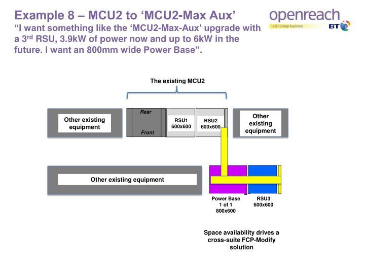 Example 8 – MCU2 to 'MCU2-Max Aux'