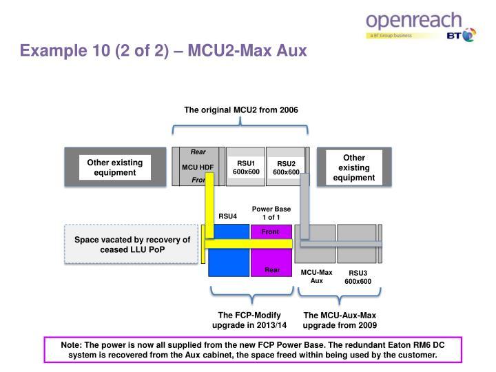 Example 10 (2 of 2) – MCU2-Max Aux