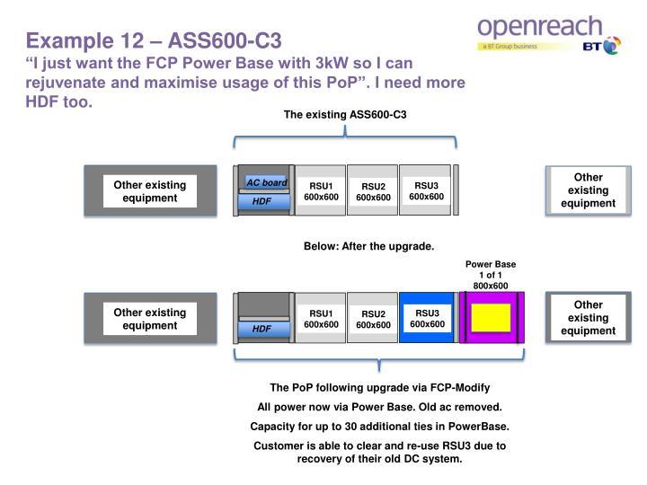 Example 12 – ASS600-C3