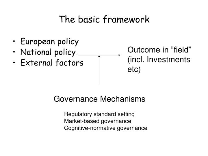 The basic framework