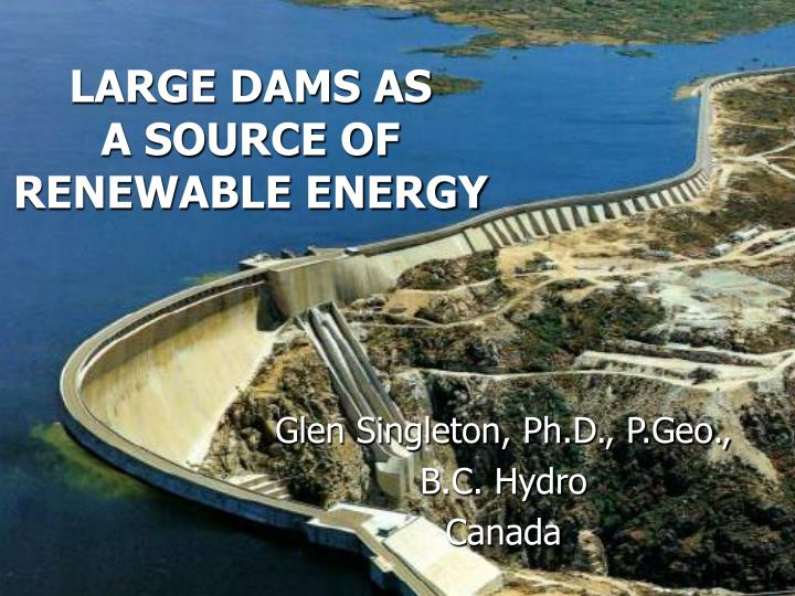 large dams as a source of renewable energy n.