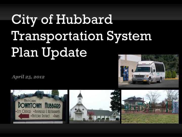 city of hubbard transportation system plan update n.