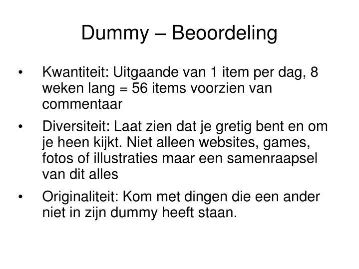 Dummy – Beoordeling