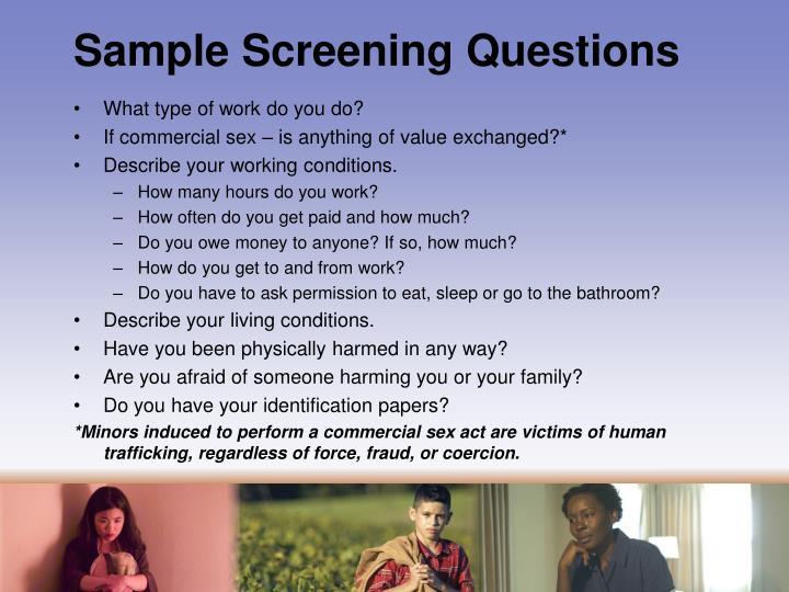 Sample Screening Questions