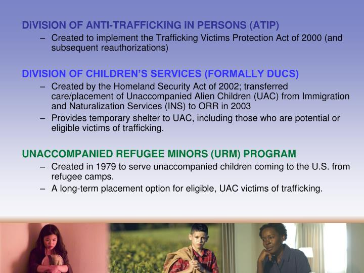 DIVISION OF ANTI-TRAFFICKING IN PERSONS (ATIP)