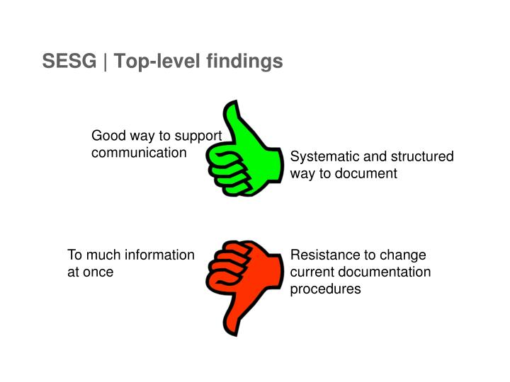 SESG | Top-level findings