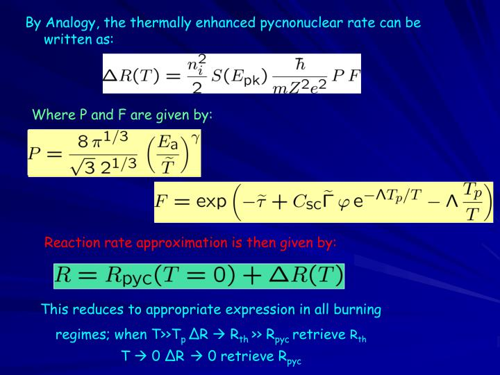 Reaction rate approximation is then given by: