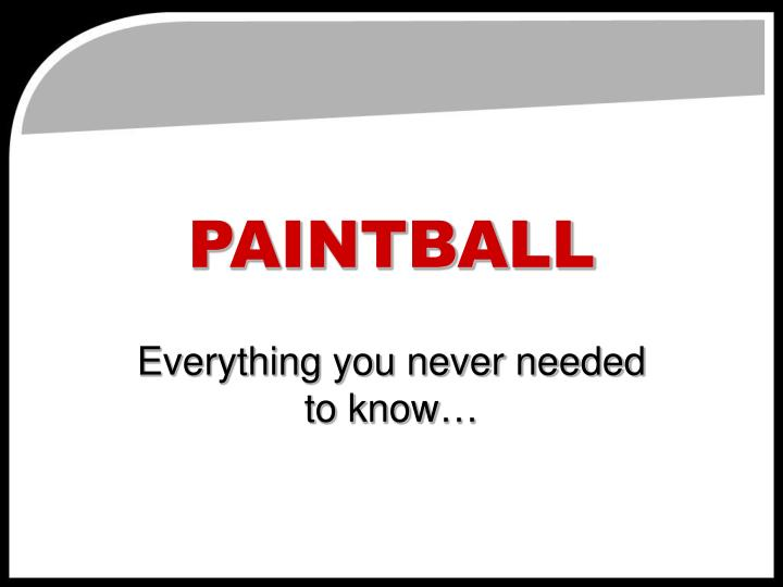 paintball n.