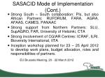 sasacid mode of implementation cont