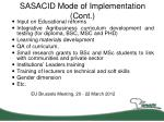 sasacid mode of implementation cont1