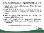 sasacid mode of implementation pis