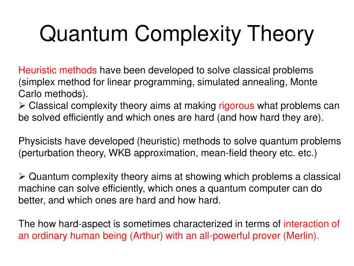 quantum complexity theory n.