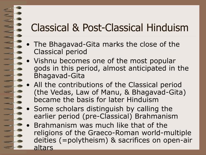 Classical & Post-Classical Hinduism
