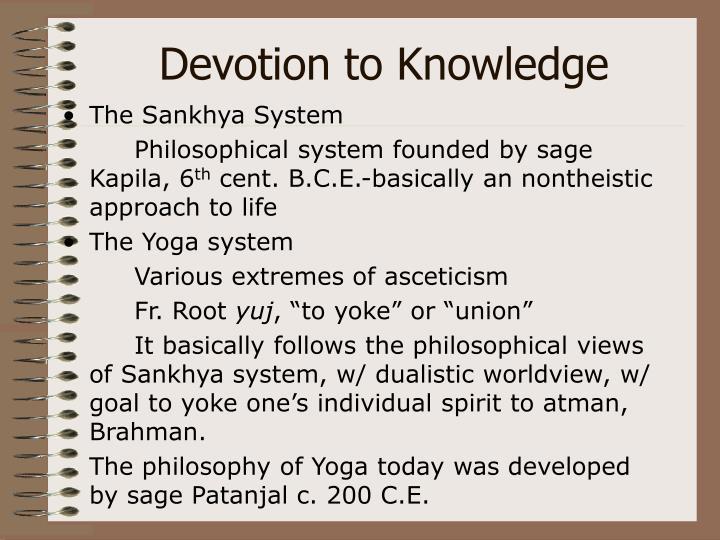 Devotion to Knowledge