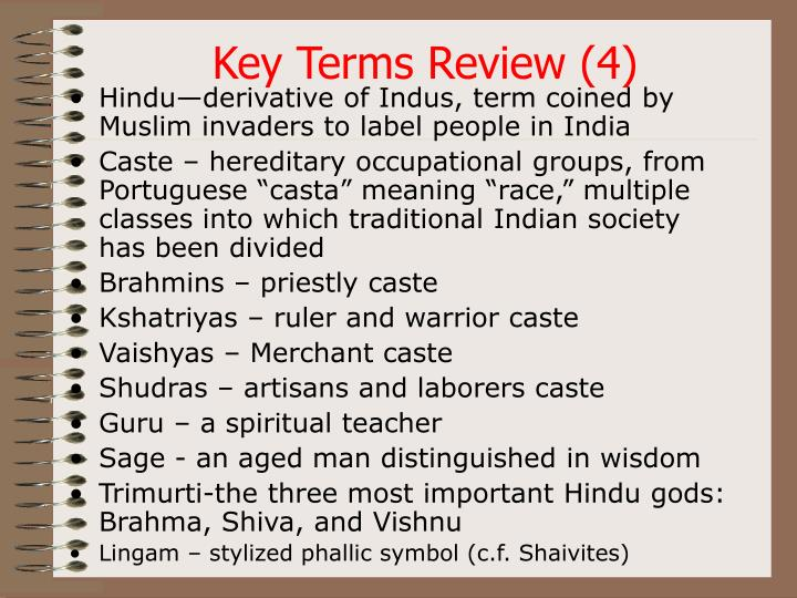 Key Terms Review (4)