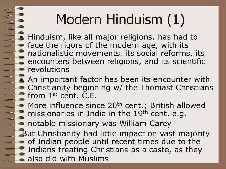 Modern Hinduism (1)
