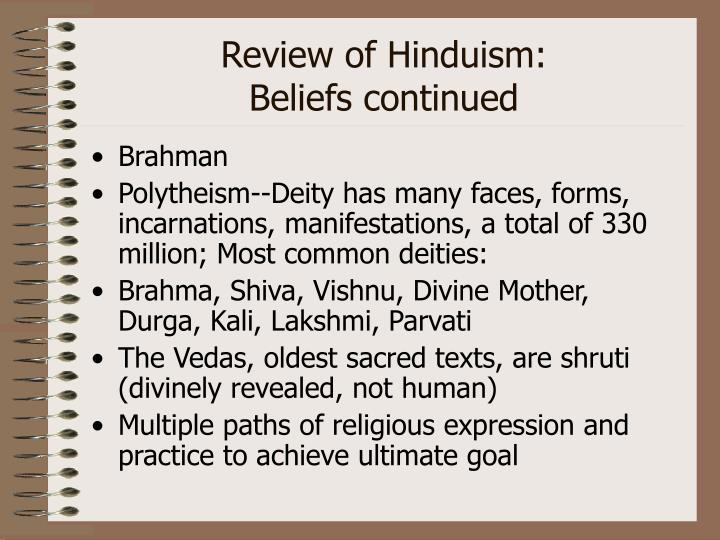 Review of Hinduism: