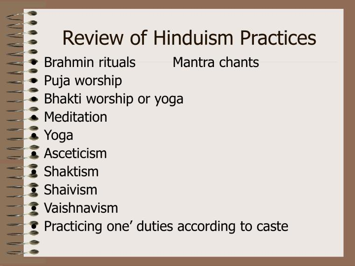 Review of Hinduism Practices